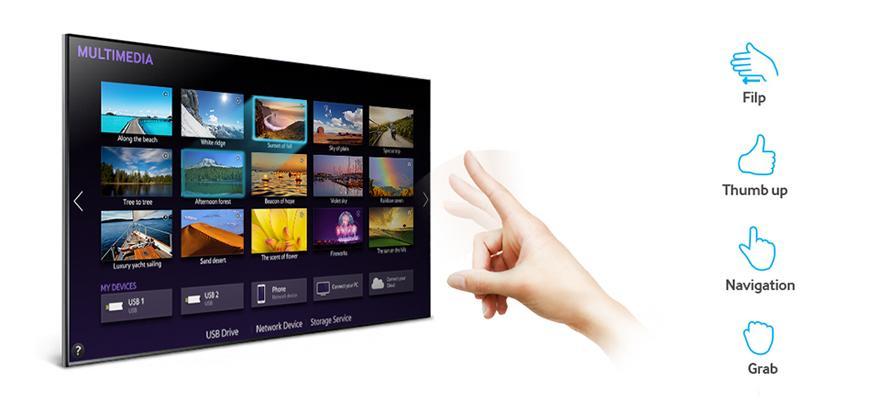 Tivi hỗ trợ các lệnh điều khiển bằng ngón tay