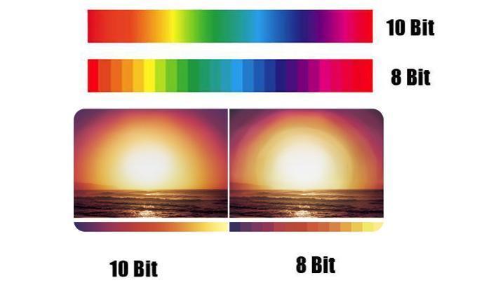 Tấm nền 10 bit giúp tái tạo màu sắc chi tiết