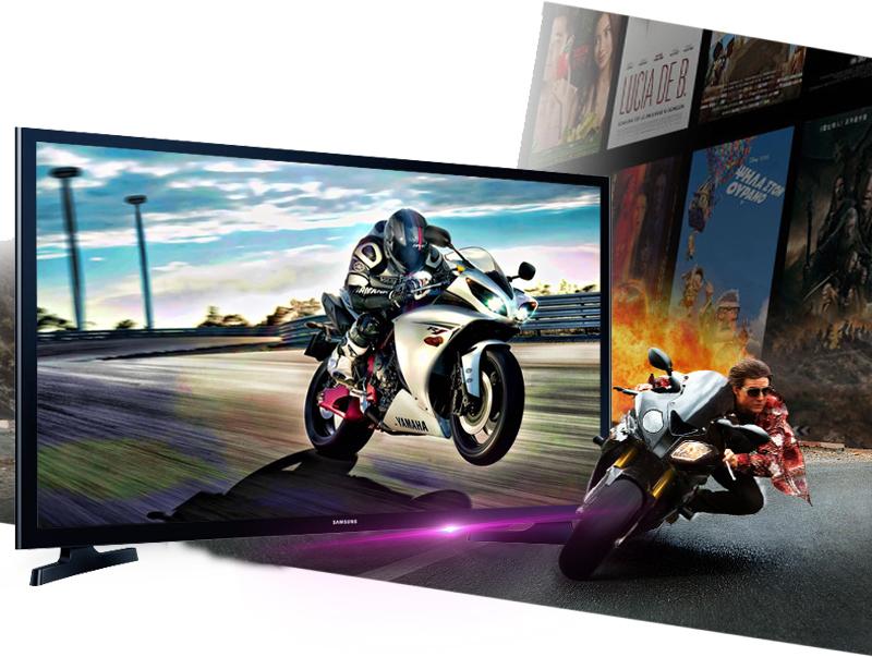 Internet Tivi LED Samsung UA32J4303 - Tần số quét 100 Hz cho những cảnh chuyển động nhanh trở nên mượt mà, không bị giật hình