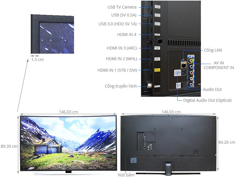 Thông số kỹ thuật Smart Tivi Cong Samsung 65 inch UA65JU6600