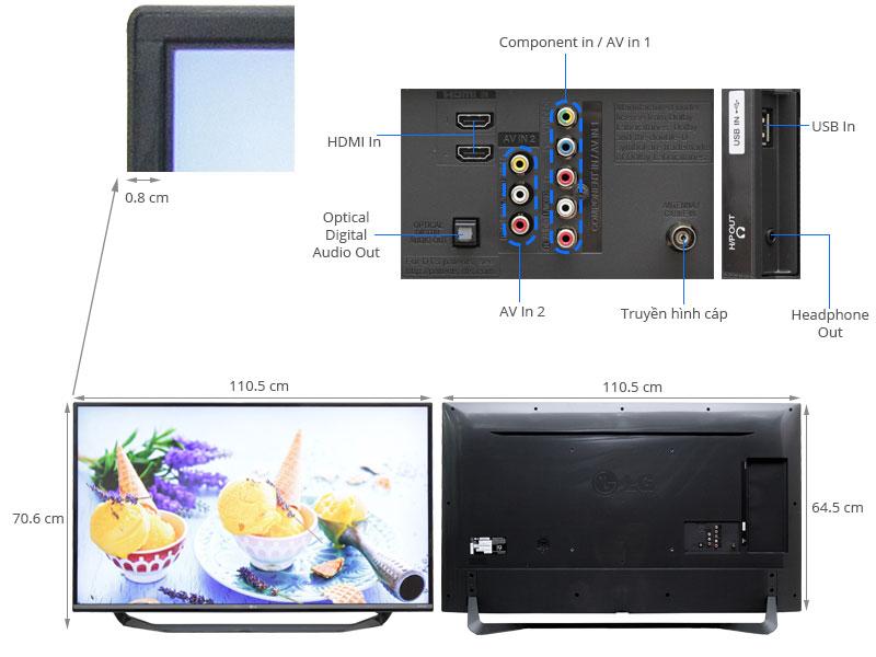 Thông số kỹ thuật Tivi LG 49 inch 49UF670T
