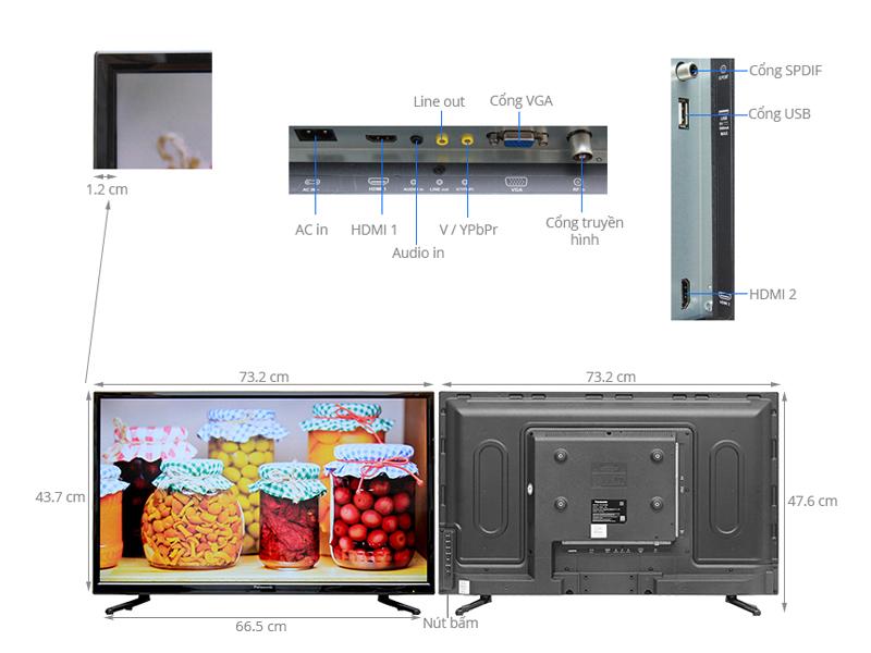 Thông số kỹ thuật Tivi Panasonic 32 inch TH-32C300V