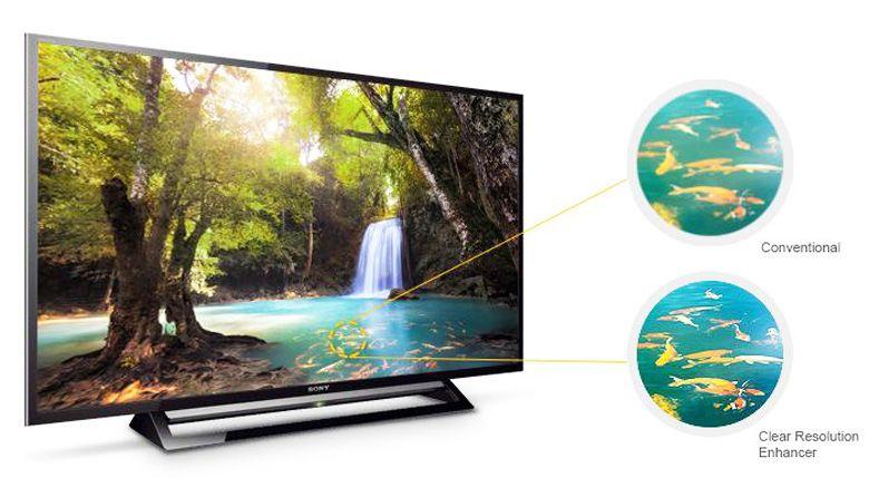 Hình ảnh có chống nhòe nhiễu cao nhờ công nghệ Clear Resolution Enhancer