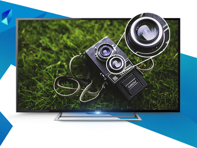 Internet Tivi Sony KDL-48R550C 48 inch - Hình ảnh chất lượng cao chống nhòe, nhiễu hiệu quả