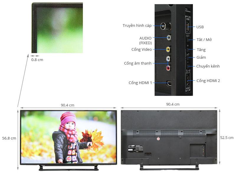 Thông số kỹ thuật Tivi Toshiba 40 inch 40L2550