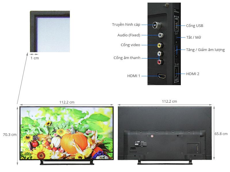 Thông số kỹ thuật Tivi Toshiba 50 inch 50L2550