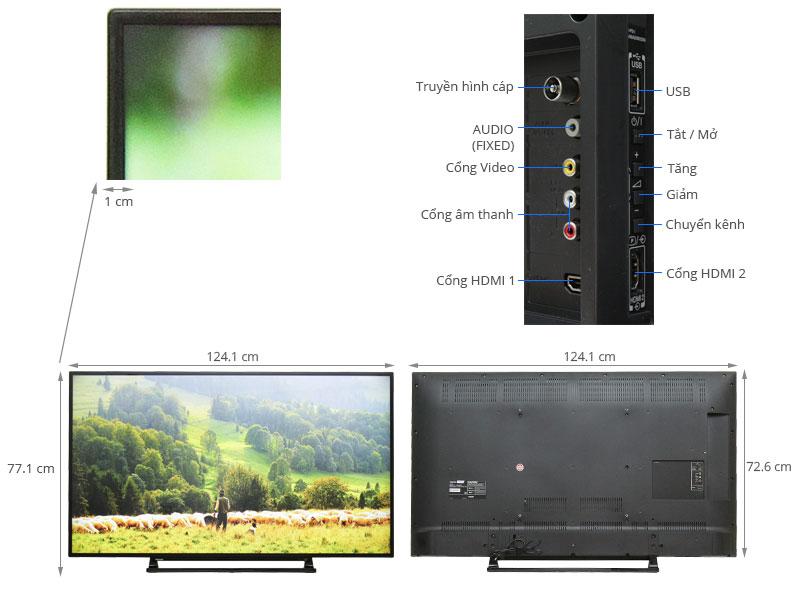 Thông số kỹ thuật Tivi Toshiba 55 inch 55L2550