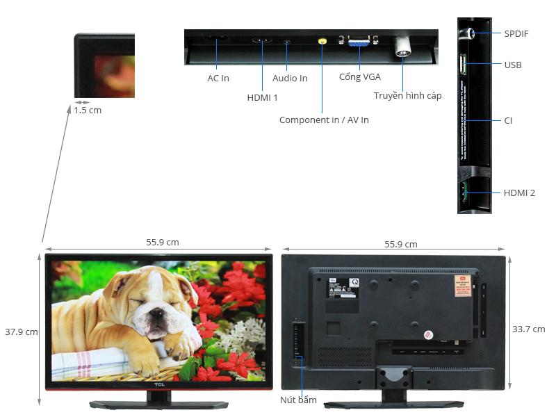 Thông số kỹ thuật Tivi TCL 24 inch L24D2700D
