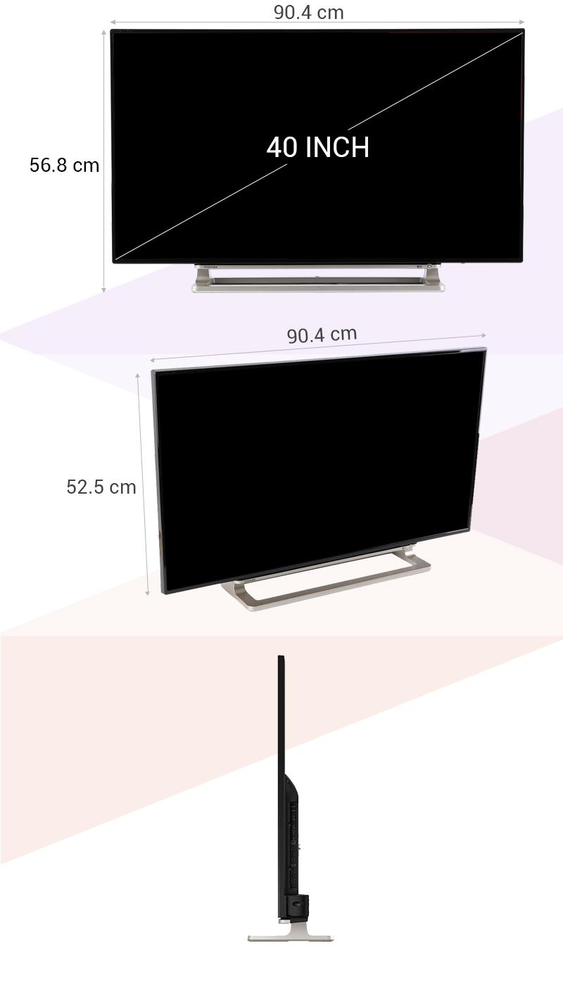 Smart Tivi Toshiba 40 inch 40L5550 - Thông số kỹ thuật