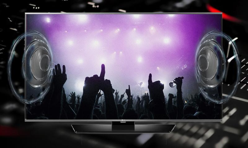 Smart Tivi Toshiba 40 inch 40L5550 - Âm thanh vòm kỹ thuật số Dolby Digital Plus được tăng cường thêm âm trầm