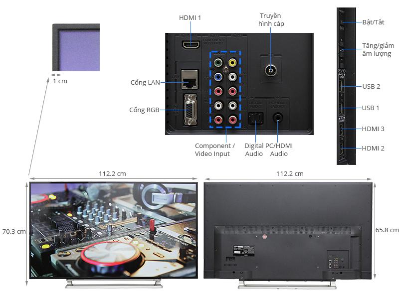 Thông số kỹ thuật Smart Tivi Toshiba 50 inch 50L5550
