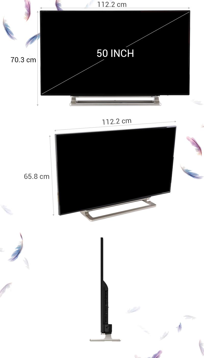 Smart Tivi Toshiba 50 inch 50L5550 - Thông số kỹ thuật