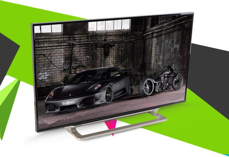 Smart Tivi Toshiba 55 inch 55L5550 - Kiểu dáng hiện đại với chân đế vững chãi, sáng bóng