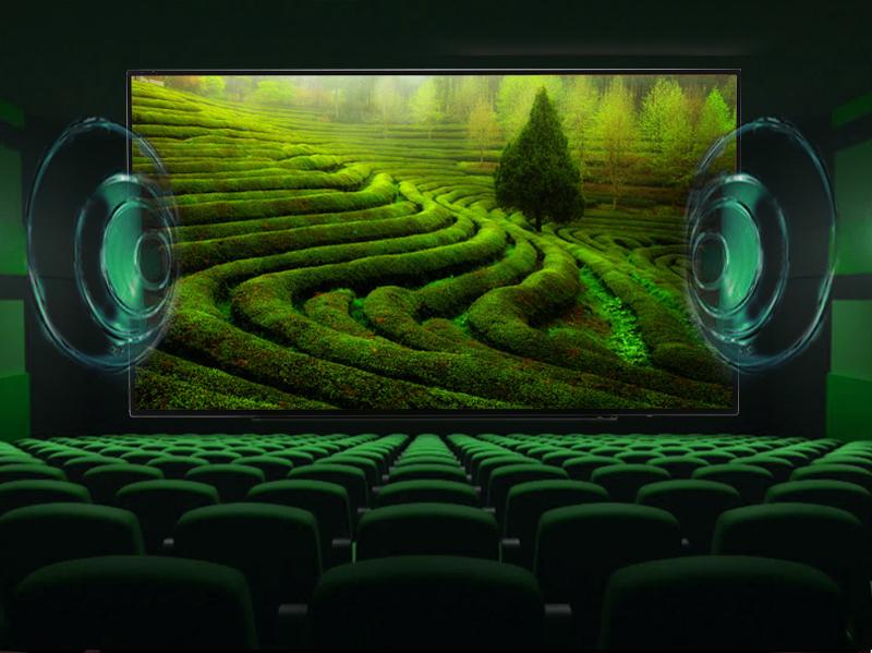 Smart Tivi Toshiba 55 inch 55L5550 - Âm thanh vòm kỹ thuật số Dolby Digital Plus được tăng cường thêm âm trầm