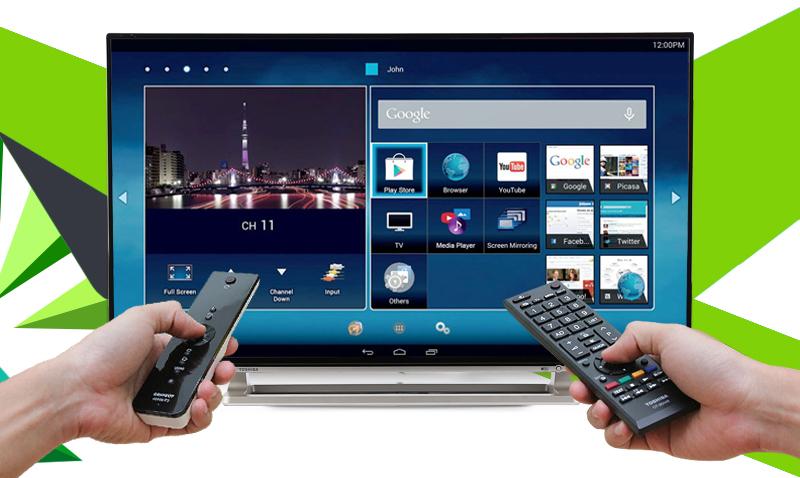 Smart Tivi Toshiba 55 inch 55L5550 -  Remote thông minh đi kèm tivi