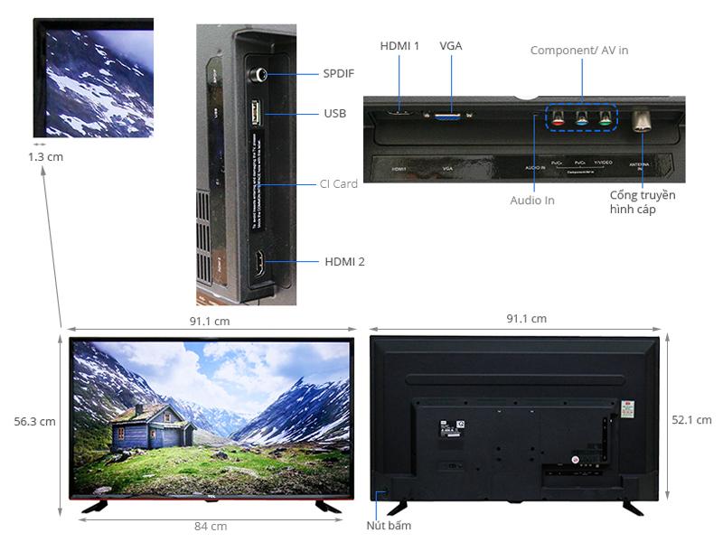 Thông số kỹ thuật Tivi TCL 40 inch L40D2700D