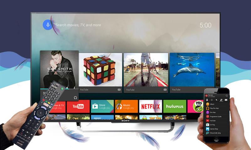 Smart Tivi Sony KD-49X8300C 49 inch - Điều khiển bằng điện thoại