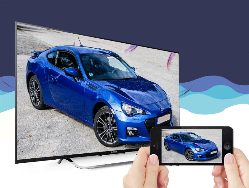 Smart Tivi Sony KD-49X8300C 49 inch - Chia sẻ nội dung không cần cáp