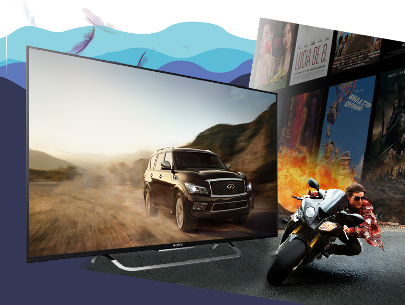 Smart tivi Sony KD-49X8300C - Hình ảnh chuyển động nhanh, mượt