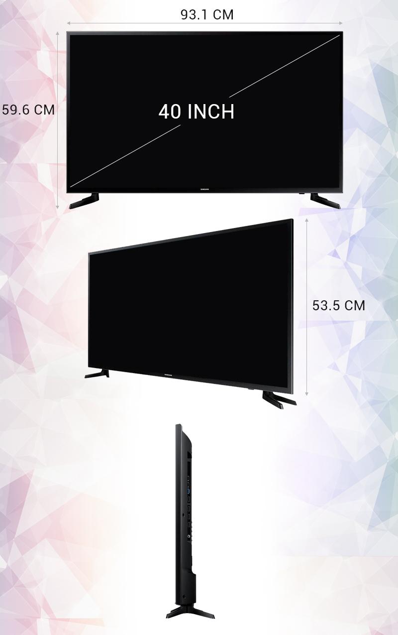 Smart Tivi 40 inch Samsung UA40JU6000 - Thông số kỹ thuật