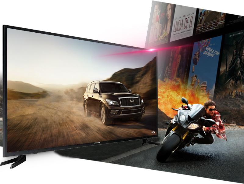 Smart Tivi 40 inch Samsung UA40JU6000 - Tái hiện các hình ảnh chuyển động mà không lo giật hình với tần số quét 100 Hz
