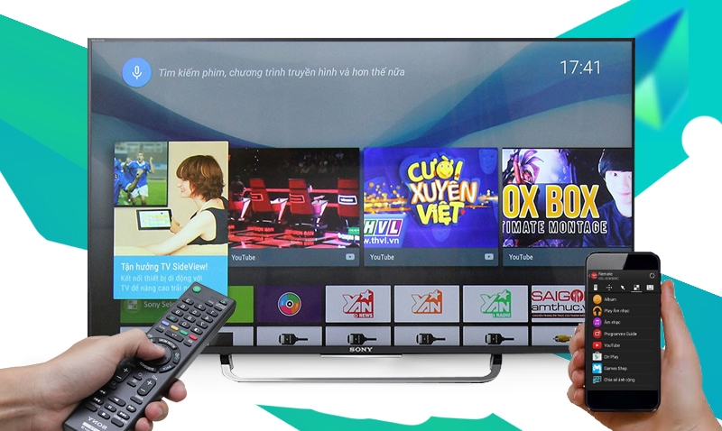 Điều khiển tivi bằng điện thoại hay máy tính bảng tiện lợi.