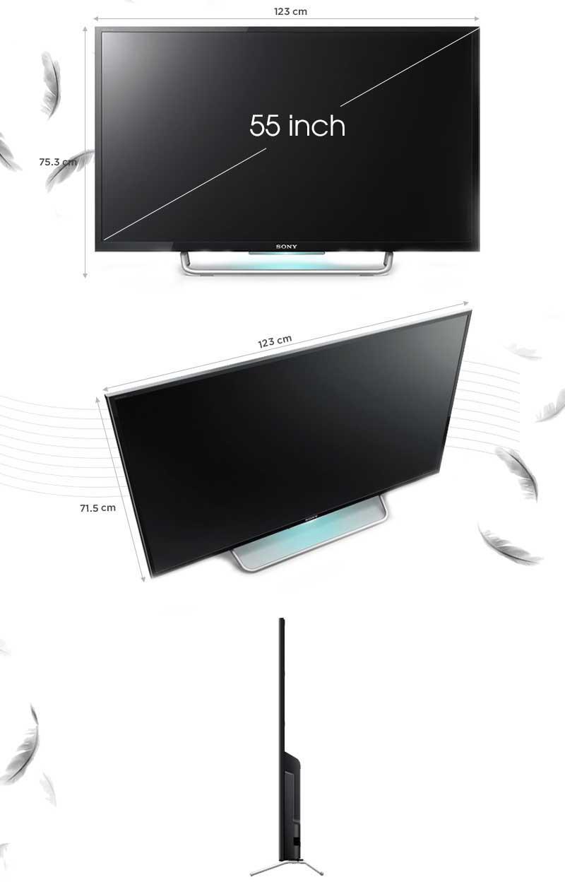 Thông số kỹ thuật Smart tivi Sony 55W800C