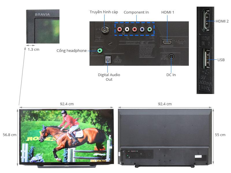 Thông số kỹ thuật Tivi Sony 40 inch KDL-40R350C