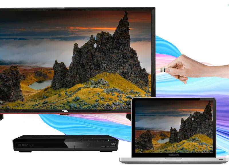 Tivi LED TCL L28D2700D 28 inch - Trang bị nhiều kết nối phỏ biến để chia sẻ nội dung giải trí với nhiều thiết bị như laptop, USB,…
