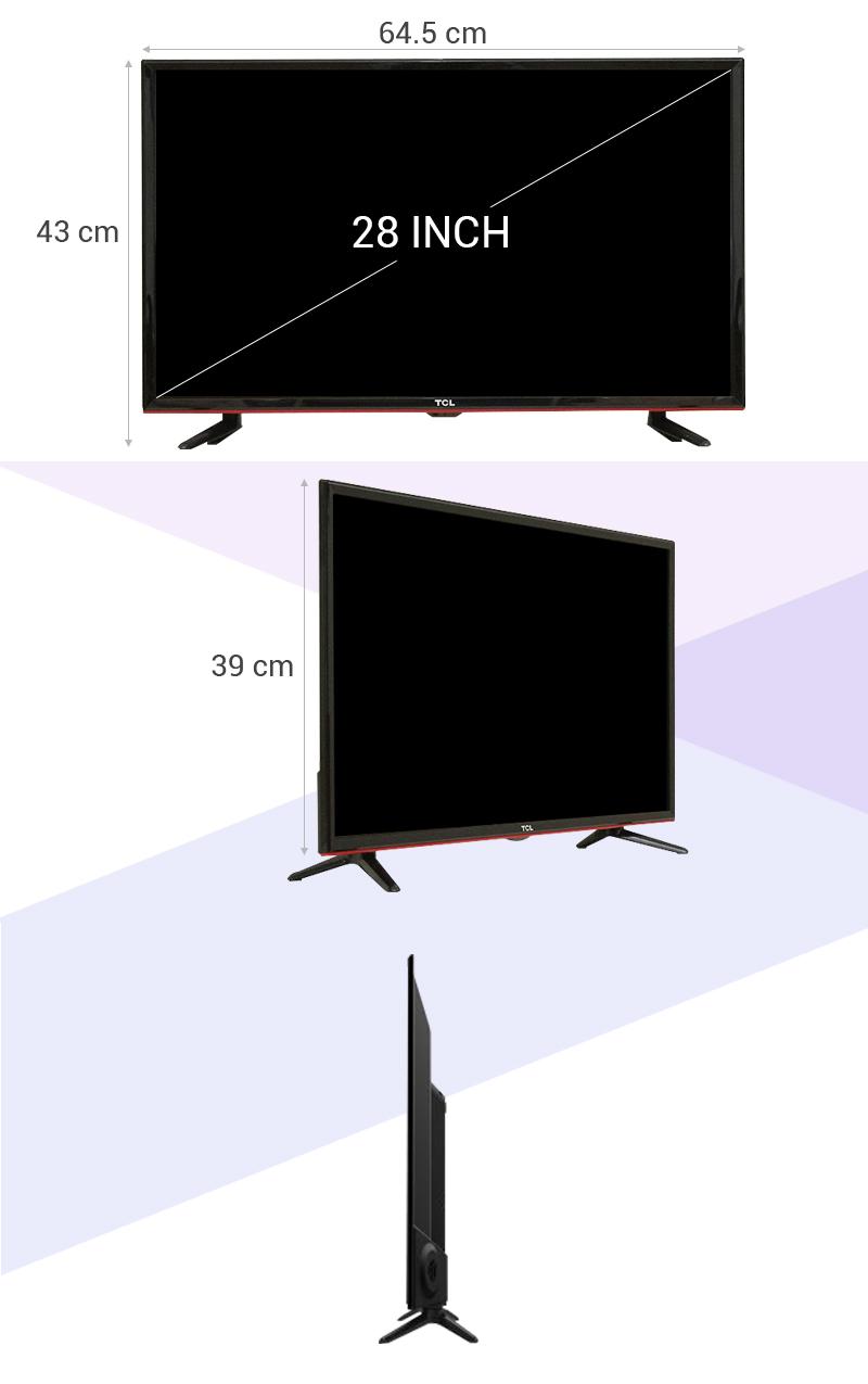 Tivi LED TCL L28D2700D 28 inch - Thông số kỹ thuật