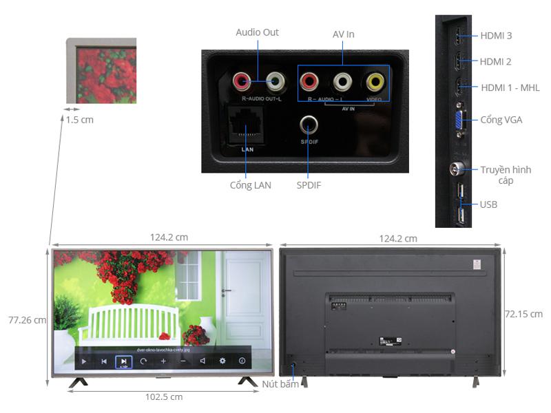 Thông số kỹ thuật Smart Tivi TCL  55 inch L55S4700