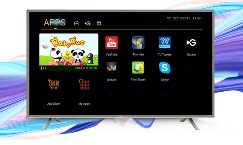 Smart Tivi 55 inch TCL L55S4700 55 - Chiếu màn hình, điều khiển tivi bằng điện thoại