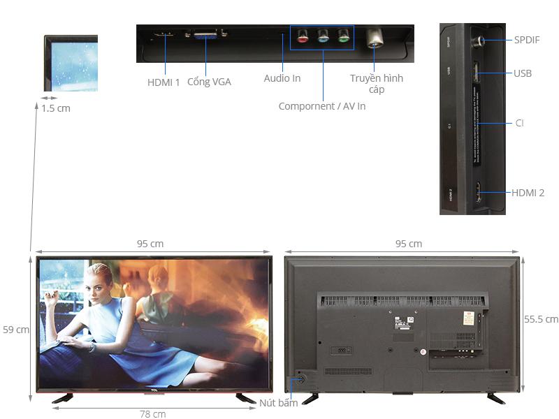 Thông số kỹ thuật Tivi TCL 42 inch L42D2700D