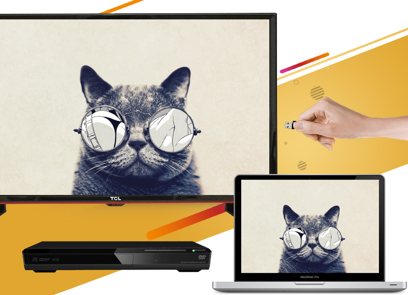 Tivi LED TCL L42D2700D 42 inch - Kết nối với nhiều thiết bị giải trí dễ dàng với cổng HDMI, USB,…
