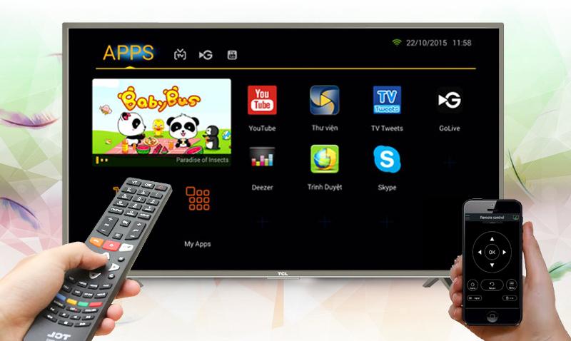 Smart Tivi TCL L32S4700 32 inch - Điều khiển và chụp màn hình tivi bằng điện thoại