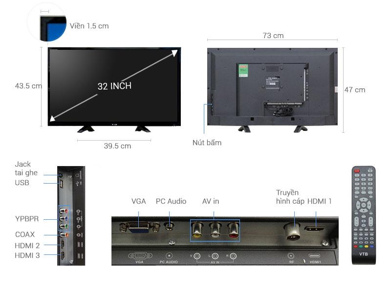 Tivi Vtb 32 Inch Lv3269 điện Máy Xanh