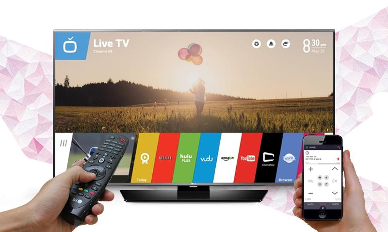 Smart Tivi LG 60LF632T 60 inch - Điều khiển tivi bằng điện thoại với ứng dụng bằng ứng dụng LG TV Plus