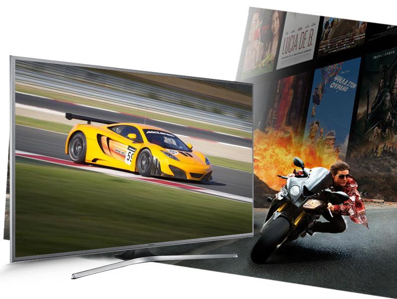 Smart Tivi Samsung UA50JS7200 50 inch - Trải nghiệm các chương trình thể thao hay những bộ phim hành động với chất lượng hình ảnh cao, không bị giật hình với tần số quét 200 Hz
