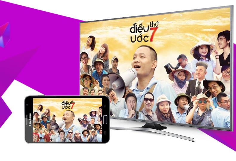 Smart Tivi Samsung UA50JS7200 50 inch - Chiếu hình ảnh từ điện thoại, máy tính bảng lên tivi để cả nhà cùng thưởng thức nhanh chóng