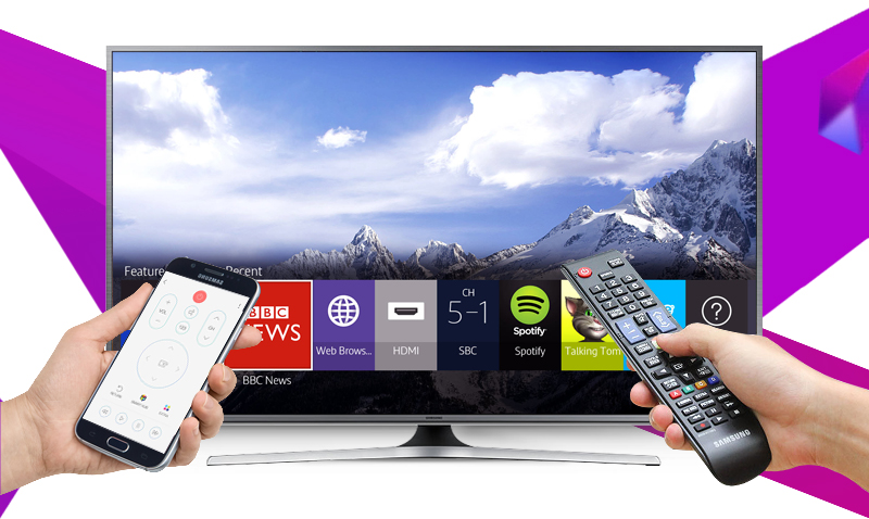 Smart Tivi Samsung UA50JS7200 50 inch - Cài đặt Smart View vào điện thoại để điều khiển tivi tiện lợi