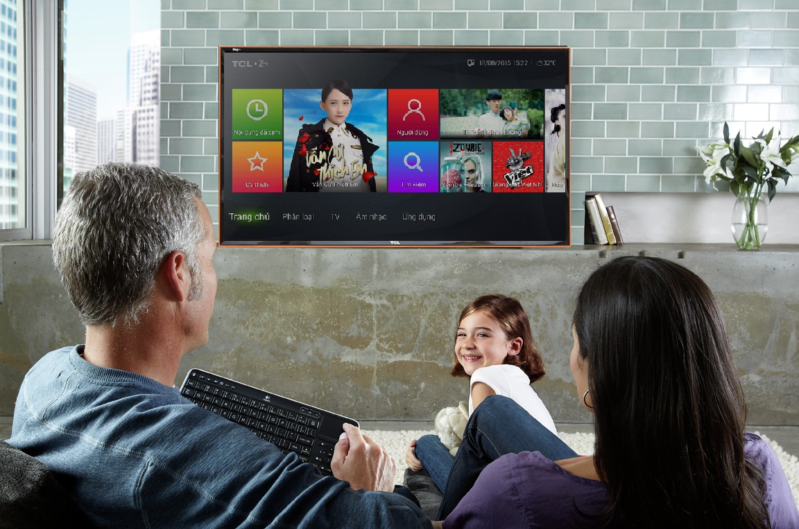 Smart Tivi Zing TCL 40 inch L40Z1 - Tivi đầu tiên tại Việt Nam tích hợp sẵn Zing TV, tặng kèm gói tài khoản Zing VIP sử dụng 1 năm