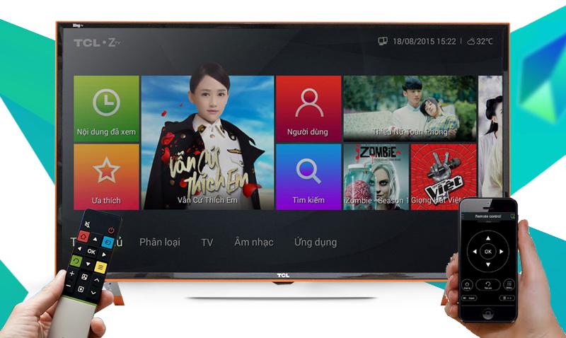 Smart Tivi Zing TCL 40 inch L40Z1 - Điều khiển tivi bằng điện thoại, máy tính bảng qua ứng dụng TCL nScreen