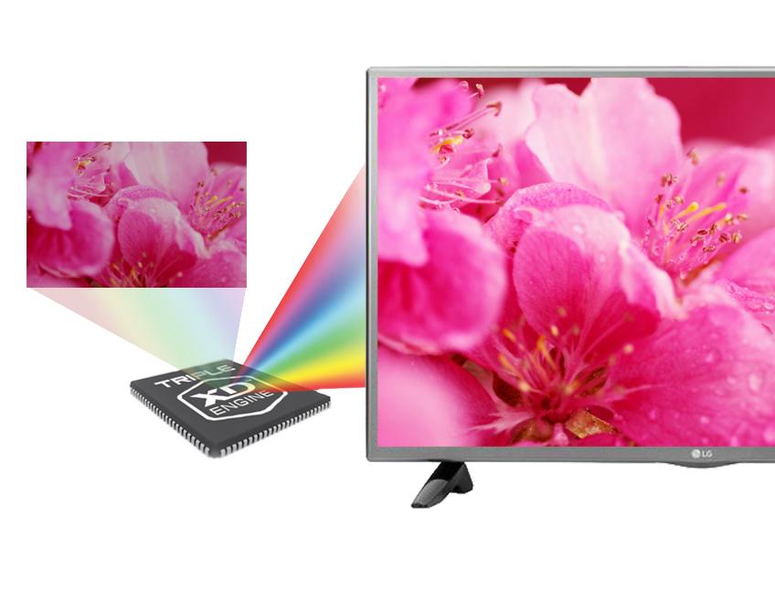 Tivi LED LG 32LF510D 32 inch - Công nghệ Triple XD Engine giúp tăng khả năng hiển thị hình ảnh sắc nét, tuyệt vời hơn.