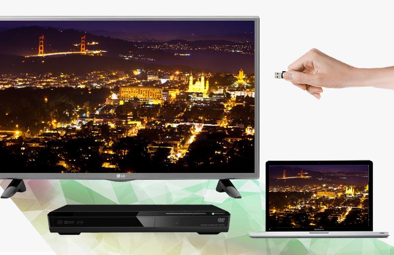 Tivi LED LG 32LF510D 32 inch - Kết nối tiện lợi với nhiều thiết bị giải trí như laptop, USB,…