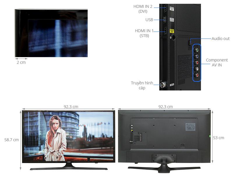 Thông số kỹ thuật Tivi LED Samsung UA40J5000 40 inch