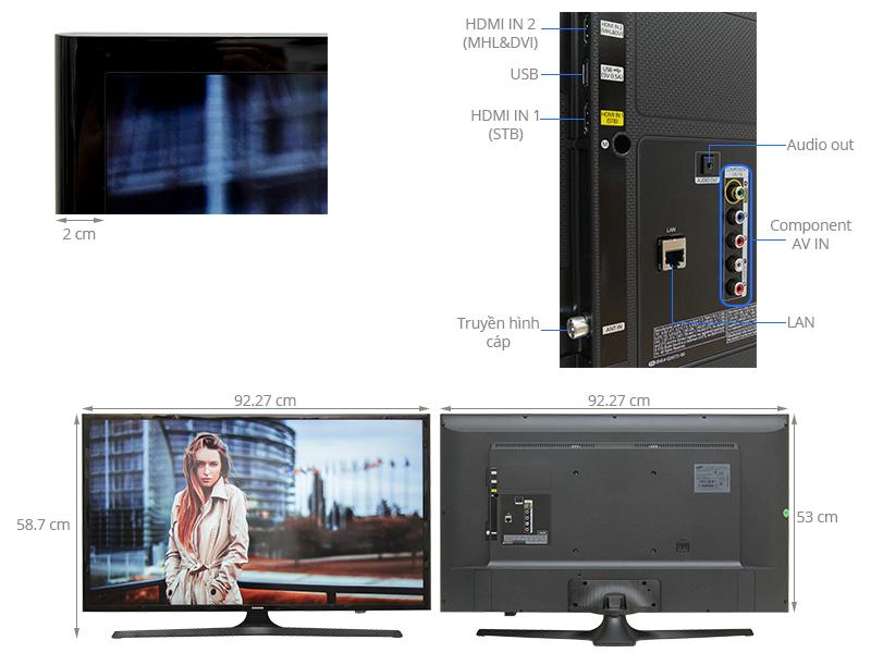 Thông số kỹ thuật Internet Tivi Samsung 40 inch UA40J5200