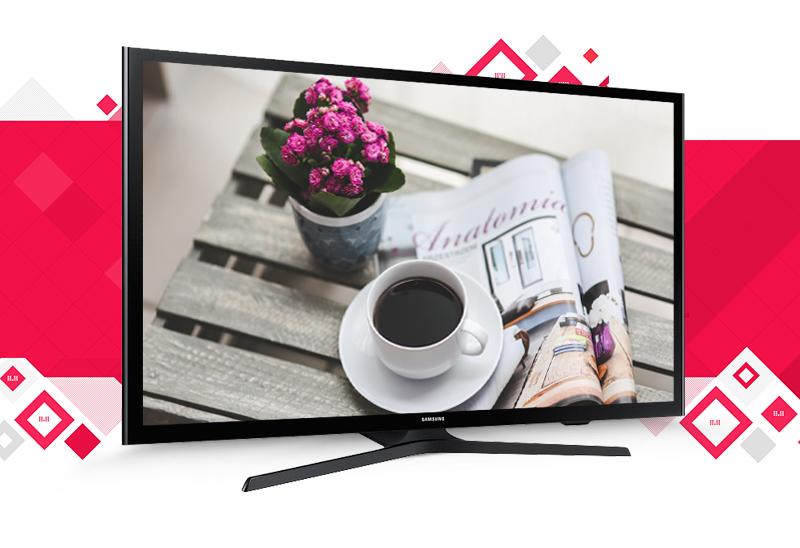 Internet Tivi LED Samsung UA40J5200 40 inch - Thiết kế mỏng, tinh tế và chân đế độc đáo, chắc chắn