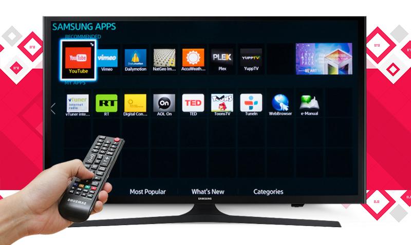 Internet Tivi LED Samsung UA40J5200 40 inch - Kết nối mạng để mở rộng không gian giải trí