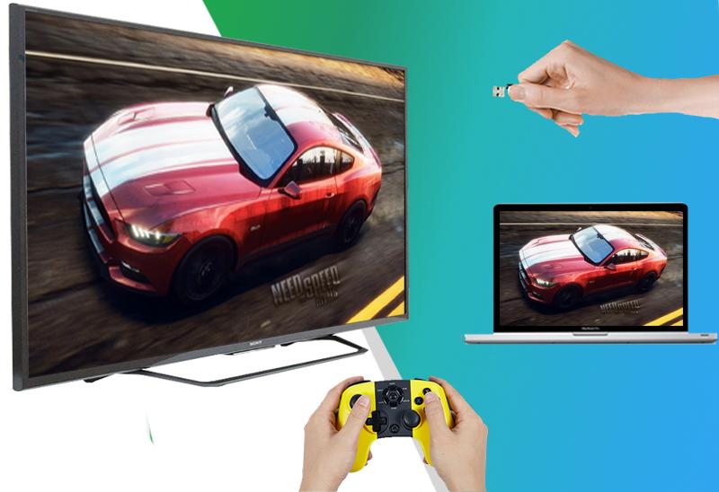 Smart Tivi 55 inch Sony KD-55X8000C - Nhiều loại cổng kết nối để phù hợp với đa dạng các thiết bị giải trí: laptop, đầu DVD, dàn máy,…