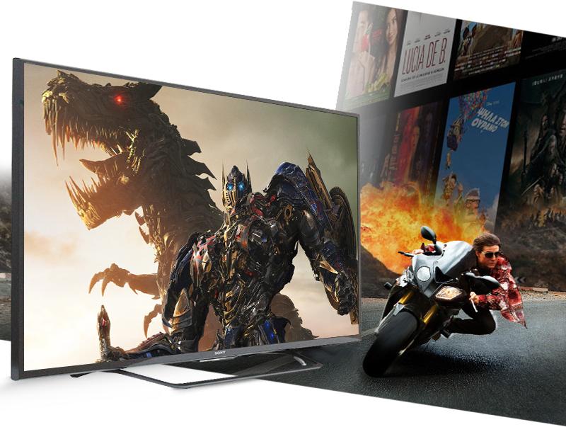 Smart Tivi 55 inch Sony KD-55X8000C -  Hình ảnh được giảm nhòe tối đa  với tần số quét 200 Hz